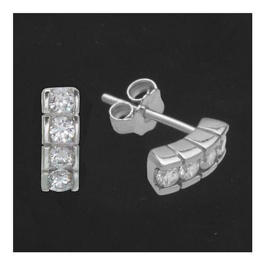 Ohrstecker 9,2 x 3,5 mm Ohrringe 925 Silber mit Zirkonia Ohrringe ... dfb8f2e62a