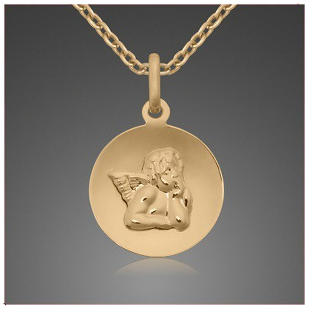 Schutzengel Anhänger Gold 333 Und 40 Cm Langen Verschied Goldketten
