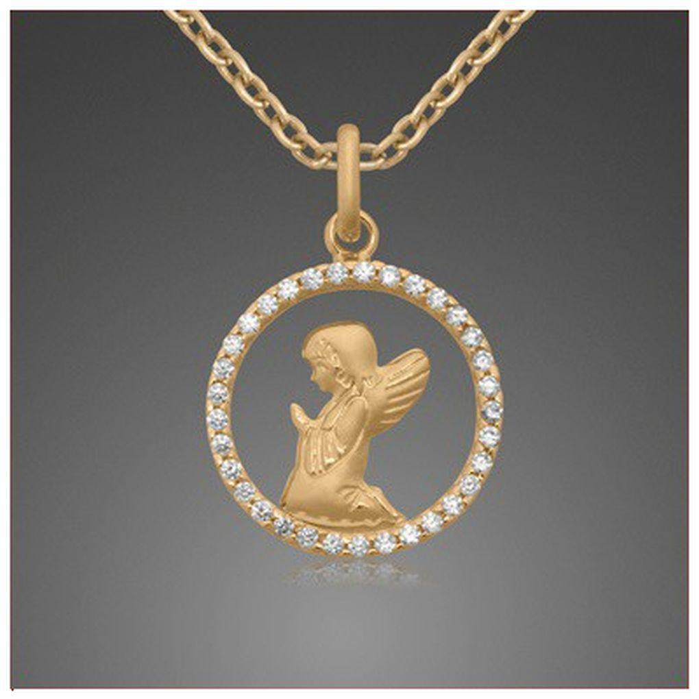 Baby Geburt Kinder Taufe Schutzengel Echt Gold 333 mit Silber Kette vergoldet