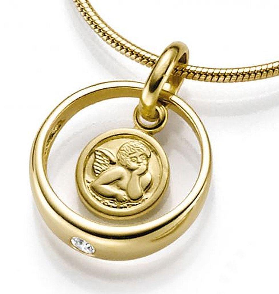 Armband Kinder 16//14 cm 333 Gold Identitätsarmband Gravurplatte mit Figarokette
